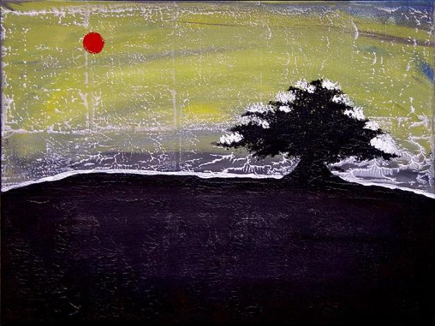 Art work - Asian Winter Contemporary LandscapeABSTRACT ART BY SHAR